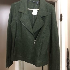 Tahari forest green blazer